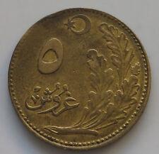 TURKEY 5 KURUS 1926  #iu 401