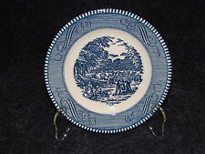 """Currier Ives Royal China Harvest Bread Plate 6 3/8"""" - Crazing"""