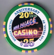 Palace Station $25.00 20th Anniversary Casino Chip Bingo Palace Las Vegas Nevada