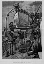 LIFE-BOAT HISTORY, EXERCISING THE CREW ON OCEAN STEAMER, LIFE-BOAT DRILL AT SEA