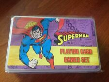 DC Comics Supeman Presentation Tin - Playing Cards Games Set - NEW