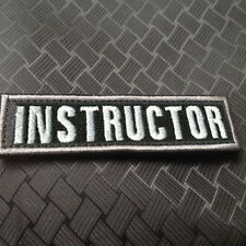 3D EMBROIDERED INSTRUCTOR ARMY TACTICAL MORALE BLACK BADGE ISAF VELCRO PATCH
