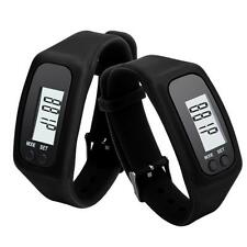 Unisex Digital LCD Pedometer Run Step Walking Disance Calorie Counter Bracelett