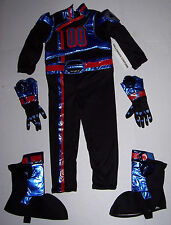 NWT DISNEY POWER RANGER SPD BLACK POLICE COSTUME SIZE XXS 2-3 NEW (NO MASK)