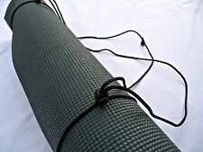 NEW 3N1 Yoga Mat Strap, Sling Carrier Tote. Adjustable Paracord- New Moon Black