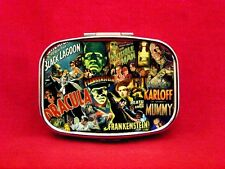 MONSTER CLASSIC HORROR DRACULA WOLFMAN MUMMY METAL PILL MINT BOX CASE