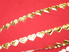 Metallic Silver / Gold - Flowers  Hearts Stars Ric Rac Fringe  By The Metre