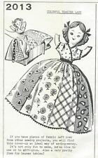 Vintage Toaster Lady Doll Cover Sewing Pattern UNCUT Quilted Skirt