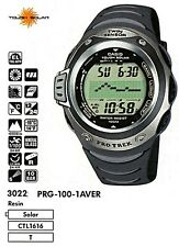 Men's watch PRG-100-1A Casio ProTrek Black Resin Digital Solar Discontinued New