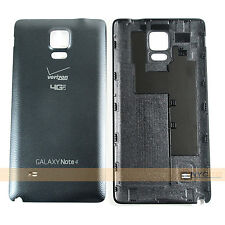Housing Battery Back Door Cover Black for Verizon Samsung Galaxy Note 4 SM-N910V