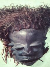 Ibibio Tribe Nigeria Wooden Mask: African Tribal Art Vintage 35mm Slide