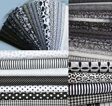 22 Fat Quarters Bundle Black & White Pattern - 100% Cotton