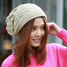 Fashion Women Lady Girls Triangle Diamond Warm Knitted Wool Hats Cap Xmas Gift