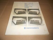 Commodore User's Manual For CBM 5 1/4 -inch Dual Floppy Disk Drives Manual PET