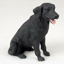 Black Lab Hand Painted Collectible Dog Figurine