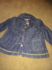 MISSONI Girls Denim Jacket Age 8 BNWT Rrp £88