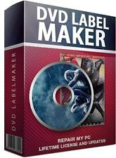 CD DVD Labeling Maker Creator Maker Design Professional Print PC DVD Software