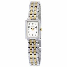 New Seiko Women's Two Tone Stainless Steel Quartz Watch SXGL61