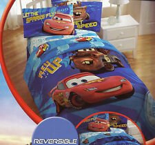 5p Disney CARS Movie FULL COMFORTER SHEETS SET Red Blue McQueen Mater Double Bed