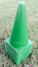 World Sport Set of 15 Green 9 inch Cones AGILITY TRAINING FIELD MARKING