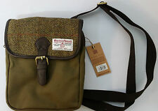 HARRIS TWEED Crossover Bag Wool Green contemporary design tweed on Sale New line