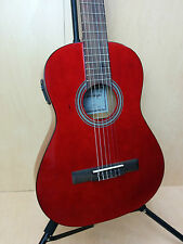 3/4 Caraya Classical Guitar Built in EQ. Free Bag, Picks,Tuner C-36RD EQ | RED