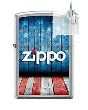 Zippo 8433 USA Flag Logo Lighter & Z-PLUS INSERT BUNDLE