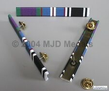 GSM + QUEEN'S G. JUBILEE + PRISON LS MEDAL RIBBON BAR