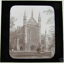 Glass Magic lantern slide WINCHESTER CATHEDRAL C1890