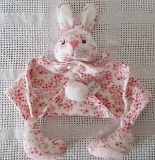 Mini Club Boots Pink Floral Bunny Rabbit Comforter Finger Puppet Blankie - SUPER