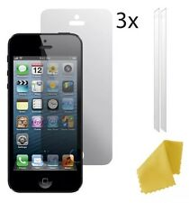 3 x Clear Plastic Screen Guard LCD Protector Film Layer For Apple iPhone 5 5s