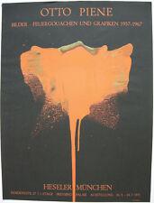 Otto Piene (1928-2014) Feuergouachen Orig Serigrafie Heseler 1971 Zero