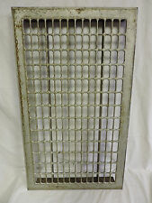 HUGE VINTAGE 1920S IRON HEATING GRATE RECTANGULAR DESIGN 28.25 X 16.5