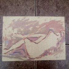 NUDE LYING WOMAN- Original Oil Painting by LISTED RUSSIA Armenian artist CHAHIN