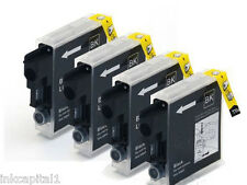 4 x Black Inkjet Cartridges LC980 Non-OEM For Brother DCP-145C, DCP-165C