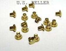 "Brass Hollow Rivets 3/32"" Wide x 1/8"" Long Package Of 100"