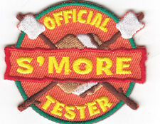 """OFFICIAL S'MORE TESTER"" -IRON ON EMBROIDERED PATCH/Cooking, Food, Baking,Treats"