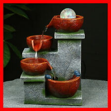 Indoor Polyresin Water Fountain Feature LED Tabletop Home Decor WF11050 NEW