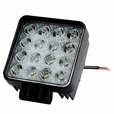Square 48W LED Work Light 12V 24V Off Road Flood Spot Lamp For Car Truck SUV 4WD