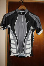 New Zealand Black Gray Cycling Jersey Size Small