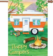 """Happy Campers House Flag Large 40"""" x 28"""""""