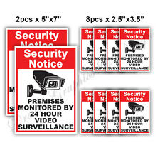 10x CCTV Video Surveillance Security Camera Alarm Sticker Warning Decal Signs 01