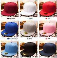 New Baseball Cap summer Fashion Blank Plain Snapback Hats Hip-Hop Adjustable Boy