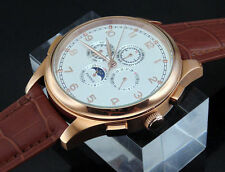 Parnis 44mm Automatic mens  PVD case watch(strap 7 color choose)1506