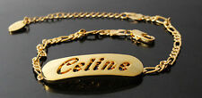 CELINE - Bracelet With Name - 18ct Yellow Gold Plated - Gifts For Her - Fashion