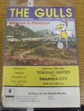 28/05/1988 play-off final división 4: Torquay unida V Swansea City. gracias
