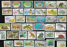 200 All Different DINOSAURS & PRE-HISTORIC ANIMALS ON   STAMPS