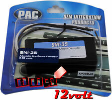 PAC SNI-35 Line Output Converter for Factory Radio with 50W Max per Channel