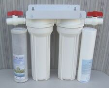 """10"""" Whole House 2 stage filtration water system remove chlorine,chemicals 3/4"""""""