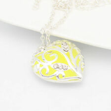 New Luminous Heart Magic Fairy Glow In The Dark Pendant Necklace Jewelry